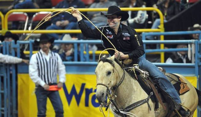 Trevor Brazile at the National Finals Rodeo in 2009