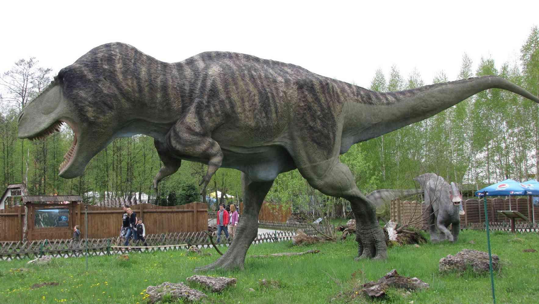 Full-size dinosaur model in Poland