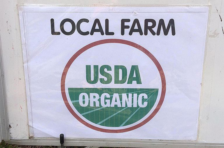 USDA Organic farm sign