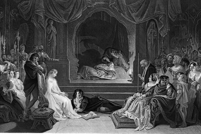 the themes of death and revenge in hamlet by william shakespeare In the play hamlet, by william shakespeare, the protagonist, hamlet is obsessed with the idea of death, and during the course of the play he contemplates death from numerous perspectives he ponders the physical aspects of death, as seen with yoricks's skull, his father's ghost, as well as the.