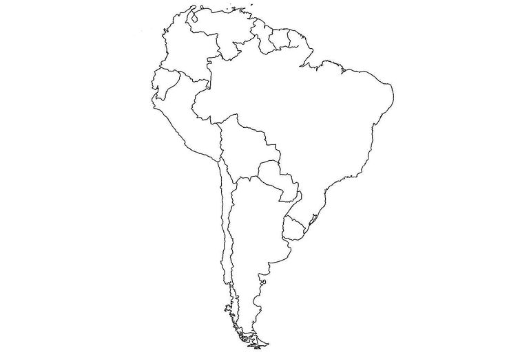 Outline Map Of South America With Countries Free Usa Maps