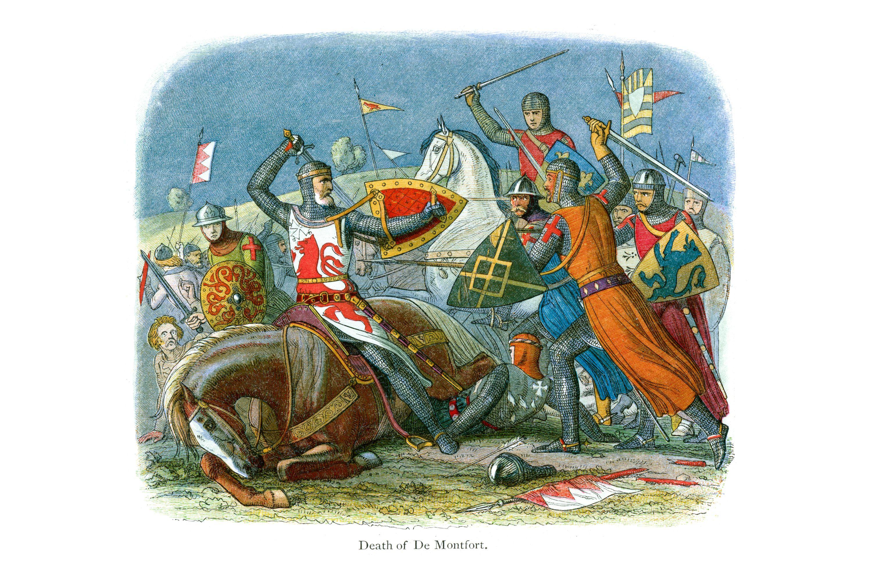 Simon de Montfort, killed at the Battle of Evesham
