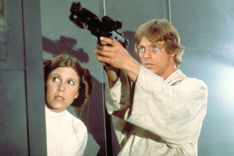 Luke Skywalker rescues Princess Leia