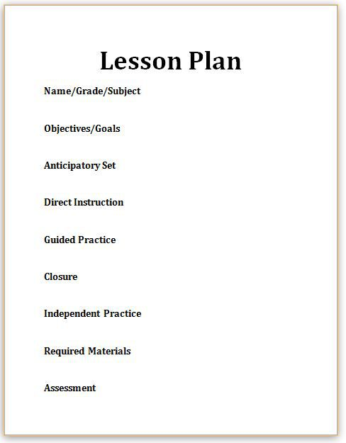 What Are Key Components Of A Lesson Plan Photo Copy Janelle Cox