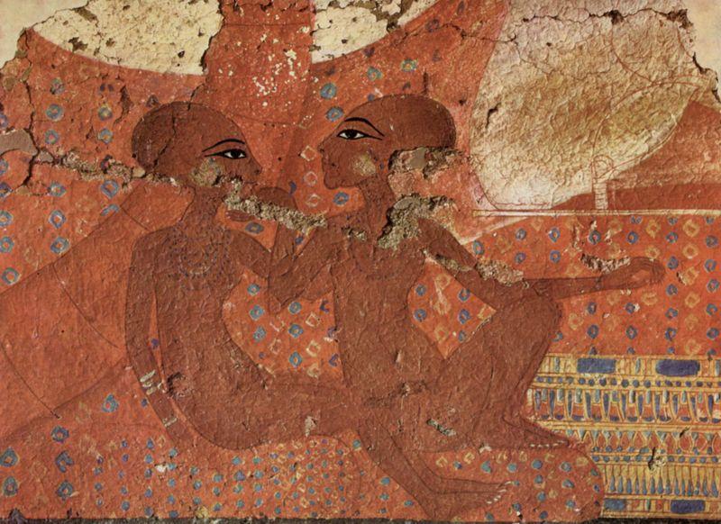 Two daughters of Akhenaten, Nofernoferuaton and Nofernoferure, c. 1375-1358 B.C