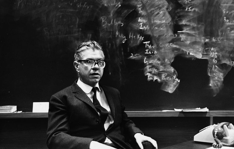Portrait of Fred Hoyle in His Laboratory