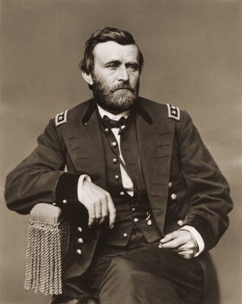Portrait Of Ulysses Grant in military uniform.