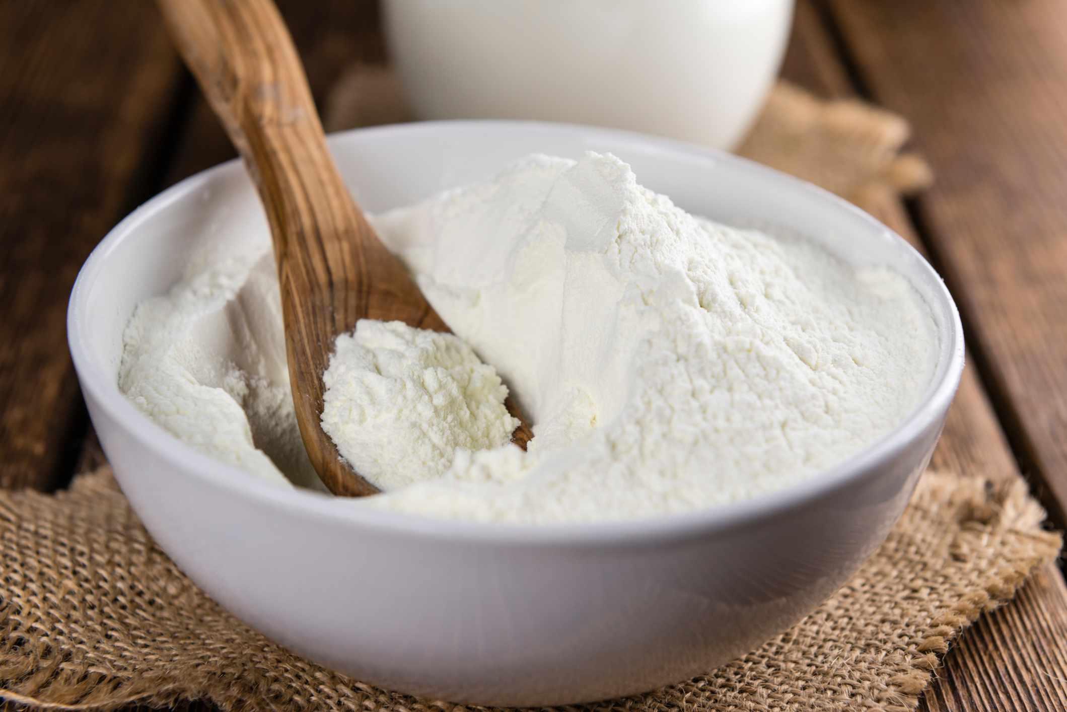 Portion of Milk Powder