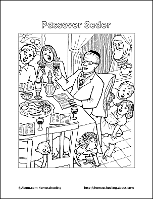 passover coloring page passover seder