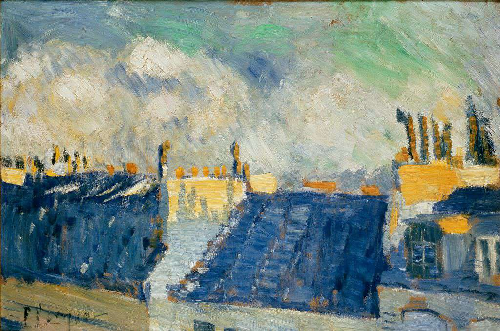 Picasso's painting Blue Roofs