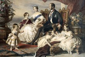 Queen Victoria and Prince Albert with 5 of their children