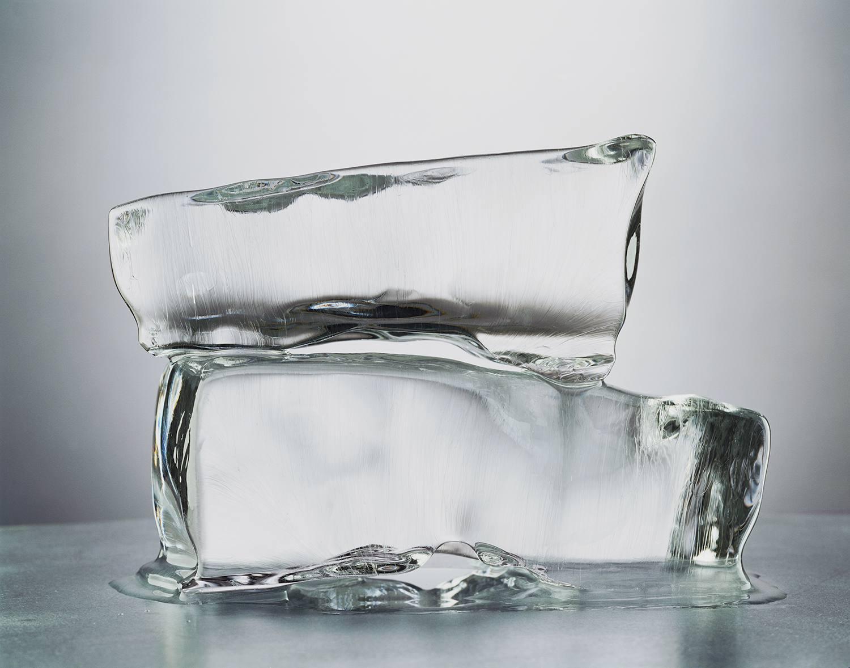 Blocks of melting ice