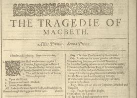 First Folio of Shakespeare's Macbeth