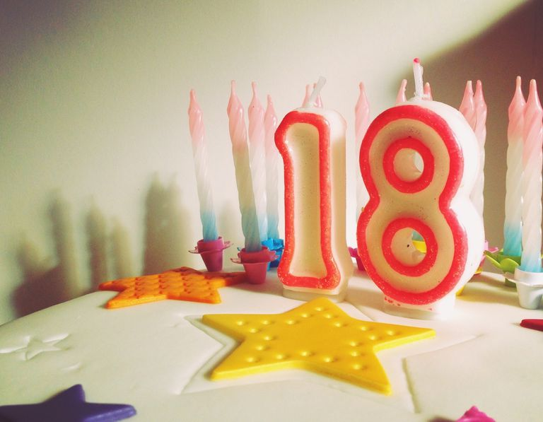 Image of an 18th Birthday Candle