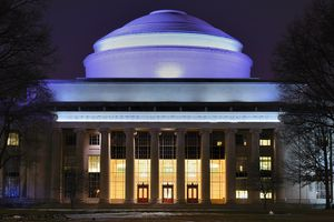 The great dome over MIT's Barker Engineering Library in Building 10.