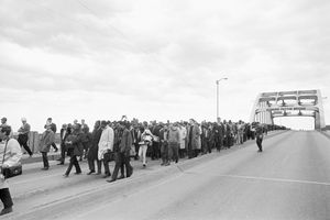 The Edmund Pettus Bridge was the site of Bloody Sunday, in which police brutalized civil rights activists in 1965.