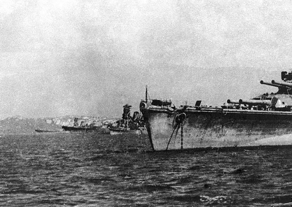 Japanese fleet before Battle of Leyte Gulf