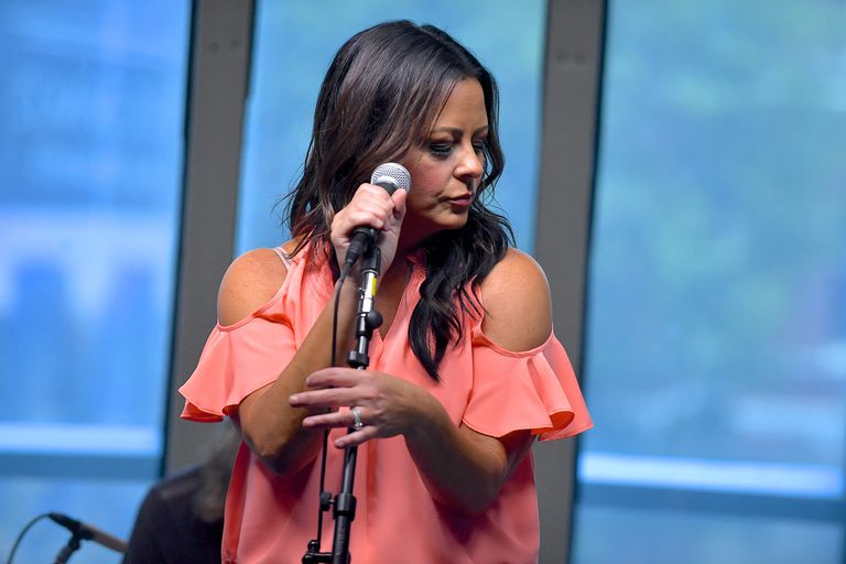 Sara Evans Performs During An Album Premiere Special On SiriusXM's Y2Kountry Channel At SiriusXM's Music City Theatre In Nashville