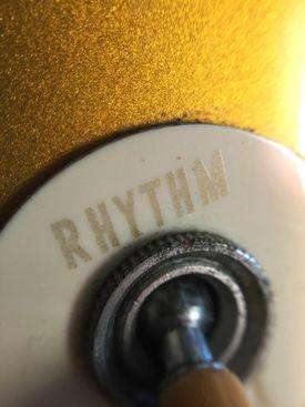 """switch labeled """"rhythm"""""""