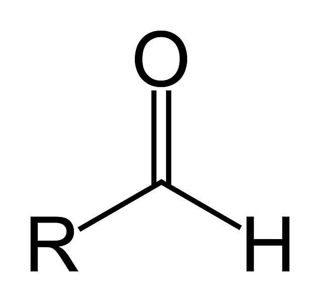 The aldehyde functional group has the formula RCHO.