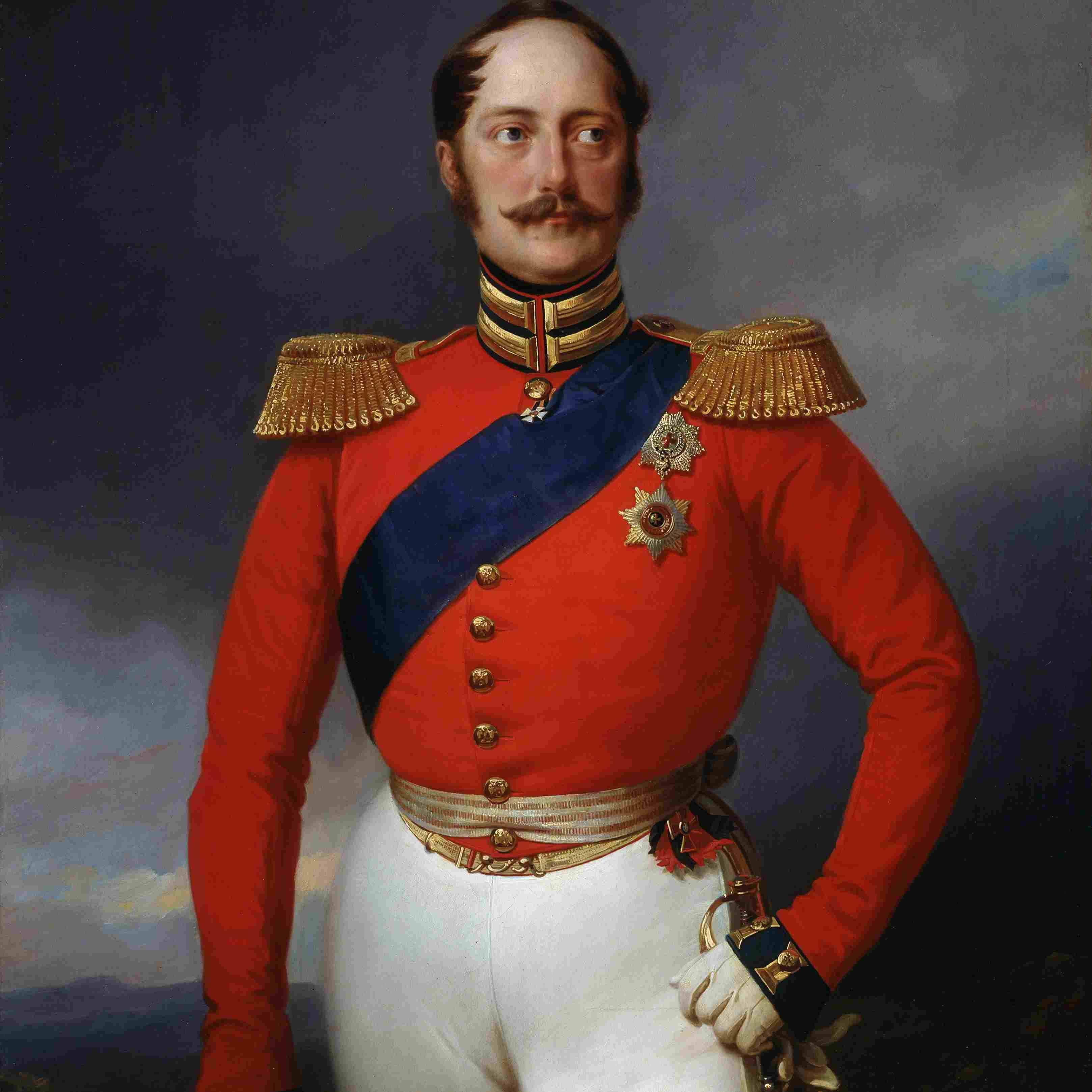 'Portrait of Emperor Nicholas I', (1796-1855), 1847. Artist: Franz Kruger