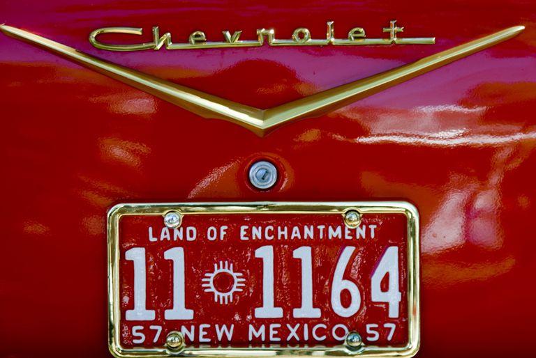 Placa de Nuevo México, un estado en el que los indocumentados pueden sacar la licencia de manejar