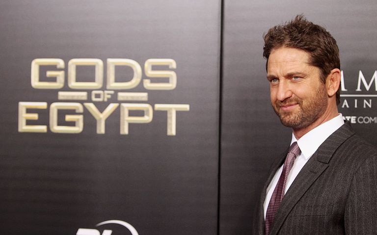 """""""Gods of Egypt"""" star Gerard Butler at the film's premiere"""