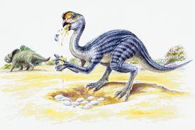 An Oviraptor robs a nest