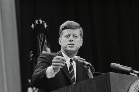 President John F. Kennedy at Press Conference