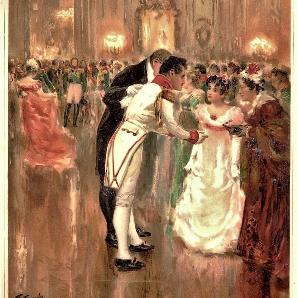 Illustration of a ballroom scene