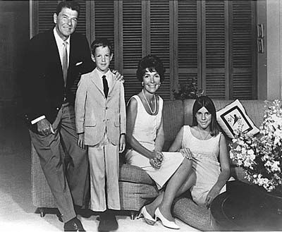 Picture of Ronald Reagan as governor of California with his family.