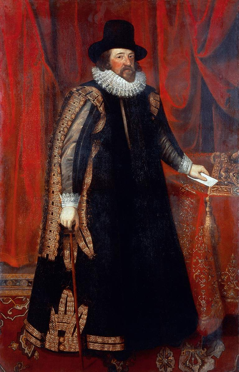 Portrait of Francis Bacon (London, 1561-1626), English philosopher and statesman. Painting from a picture by Paul van Somer (1577-1626)