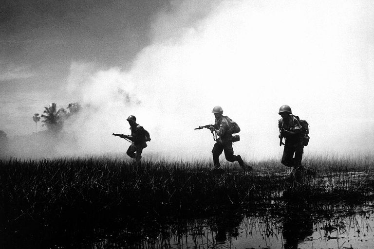 Vietnamese Army's Crack Troops In Action