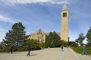 McGraw Tower and Chimes, Cornell University campus, Ithaca, New York