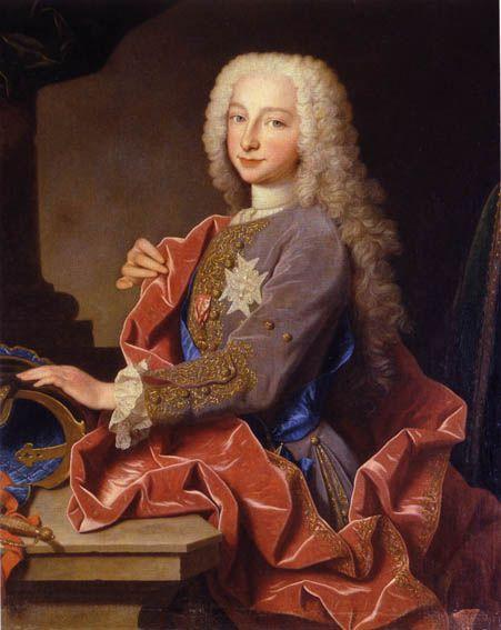 Charles of Bourbon, later Carlos III of Spain, Dressed in Royal Purple