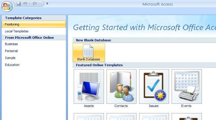 Create A Blank Access Database