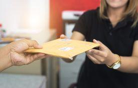 Sending mail through post office