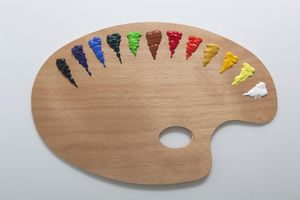 colors on a painter's palette