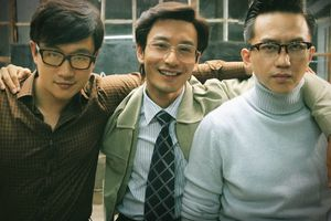 three young businessmen