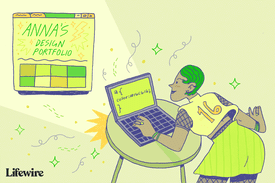Illustration of a person using CSS to change their website colors