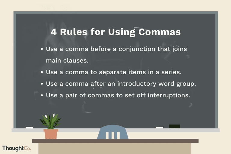 4 Rules for using commas
