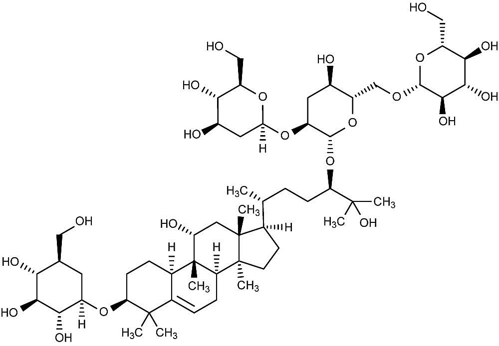 Esta es la estructura química del siamenosido I.