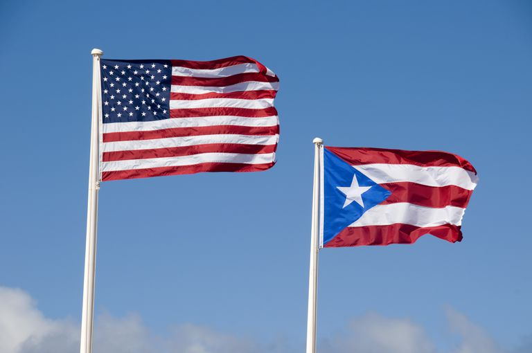 U.S. and Flag of Puerto Rico