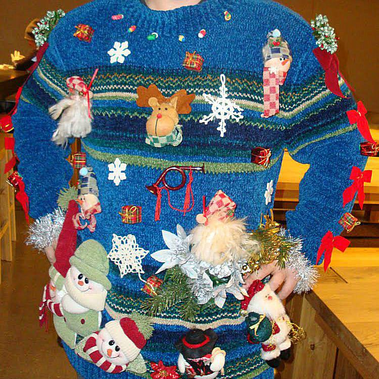 20 of the funniest ugly christmas sweaters ever made - Ugly Christmas Sweater Door Decoration Ideas