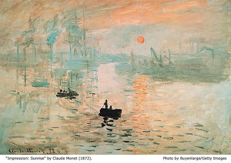 Sunrise - Monet (1872)