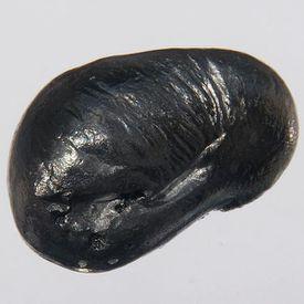 This is a bead of pure beryllium (1.0 x 1.5 cm, 2.5 g).