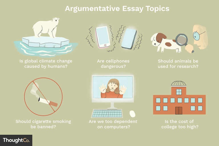 Compelling Argumentative Essay Topics Illustrations Of A Few Popular Argumentative Essay Topics