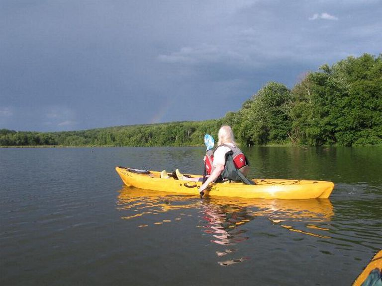 Kayaking on Ford's Lake, 5 Miles from the Clarks Summit University Campus