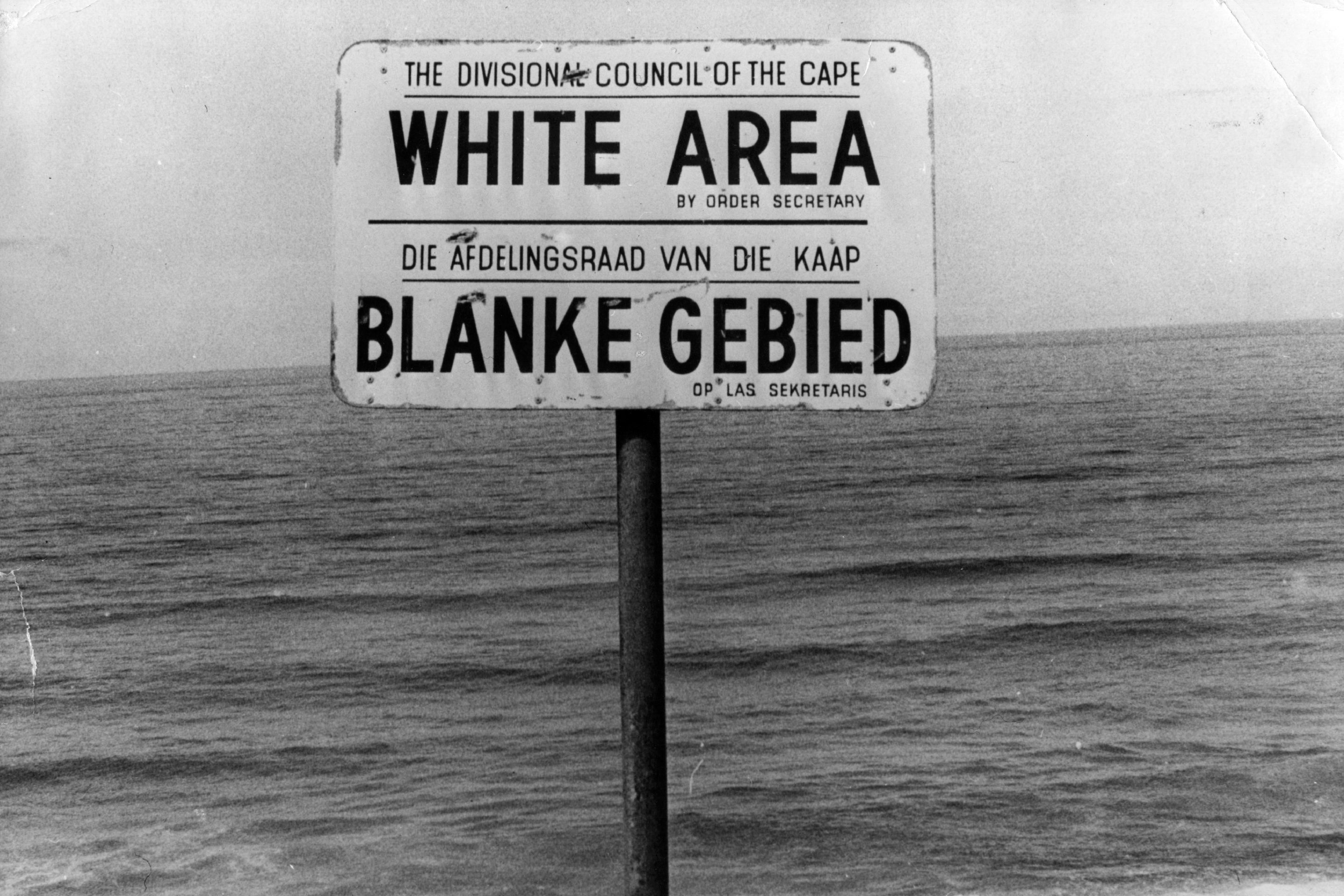 Apartheid Era Signs in South Africa