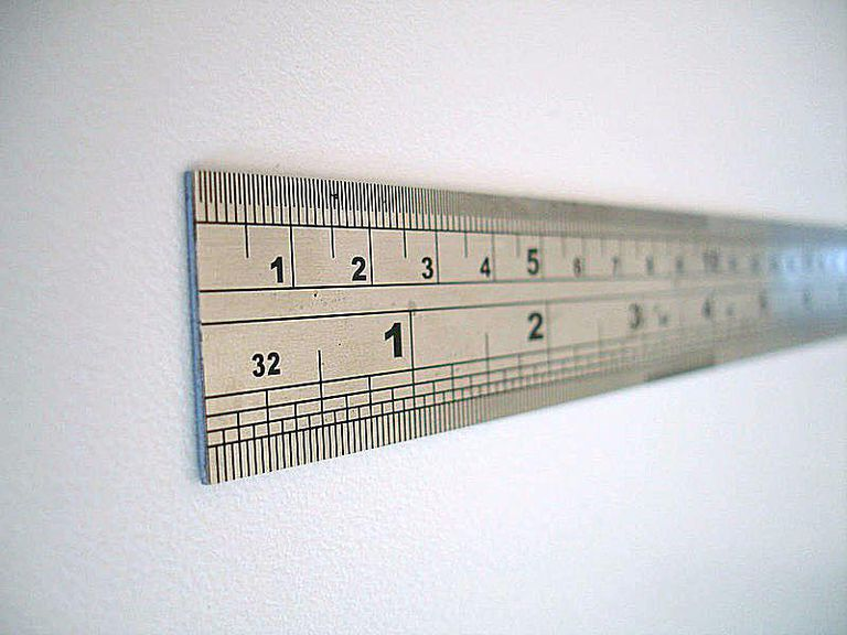Steel, like the metal used in this ruler, is an iron alloy.